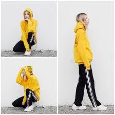 fila yellow hoodie. ebba zingmark - dream but do not sleep hoodie, na kd pants, fila sneakers yellow hoodie f