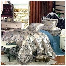silk duvet covers luxury embroidery satin bedding sets jacquard cover bedclothes bed sheet pillowcases cotton queen