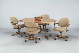 dining table with rolling chairs astound room sets coffeetreestudio home ideas 2