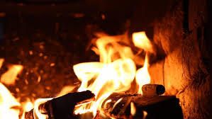 beautiful fire in the fireplace hd stock footage clip