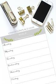 Weekly Planner Free Printable On Sutton Place