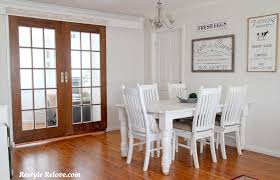Against The Wall Dining Table Restyle Relove 2016 Spring Home Tour