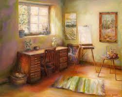 studio painting blank canvas by bonnie goedecke