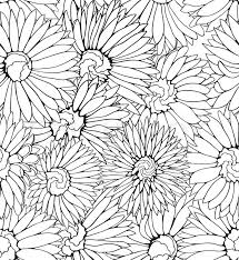 vector fl seamless pattern black and white background with