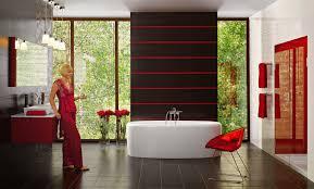 Dark Red Bathroom Accessories Bathroom Double Sinks