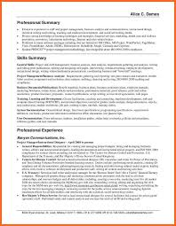 Career Summary On Resume Resume Professional Summary Examples Career Summary Examples 23