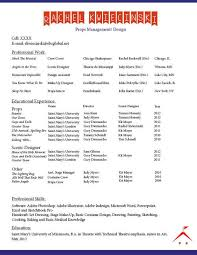 Resumes Oh My The College Theatre Blog