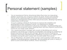 Example Of A Profile For A Resumes Example Of Profile For Resume Personal Profile Resume Example