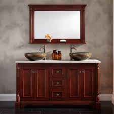 trevett double vessel sink vanity  cherry  double sink