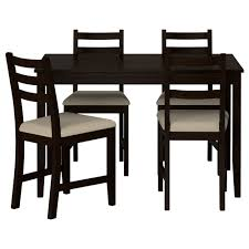lerhamn table and 4 chairs black brown ramna beige 118x74 cm ikea ikea dining table with bench