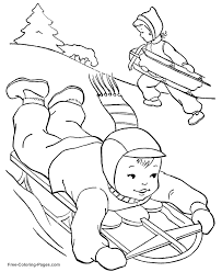 Small Picture Winter Themed Coloring Pages Coloring Pages