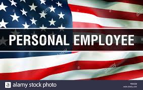 Personal Employee On A Usa Flag Background 3d Rendering United