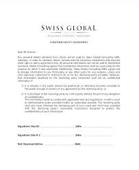 Confidentiality Agreements Basic Agreement Form Non Disclosure ...