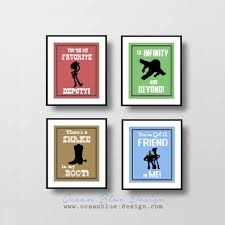 sale  on beyond the wall art prints and posters with toy story prints set of 4 8 x10 prints child s room or nursery