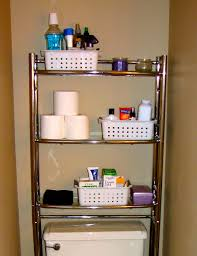 small bathroom makeup storage ideas. Saving Small Bathroom Spaces Using Stainless Steel Vertical Rack Towel, Makeup And Tissue Storage Plus Plastic Box Ideas C