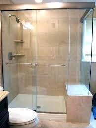 shower custom frameless shower doors door installation cost medium bathroom glass door cost