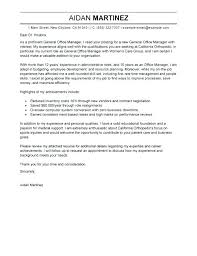 Sample Cover Letter For Office Manager Office Manager Cover Letter