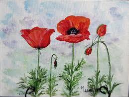 colorado poppies acrylic painting