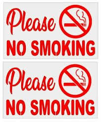 Details About 2 No Smoking Signs Vinyl Decal For Your Car Windows