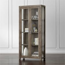 Image Industrial Modern Morris Ash Grey Bookcase Crate And Barrel Bookcases Wood Metal And Glass Crate And Barrel