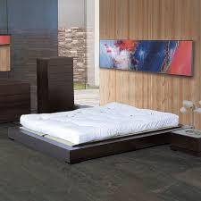 shop beverly hills furniture zen espresso king platform bed at