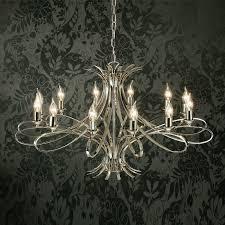 interiors 1900 penn 12 light ceiling pendant chandelier polished nickel plate ca7p12n