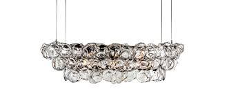 ostrea chandelier contemporary glass metal chandelier by john pomp studios