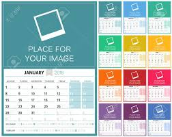 English Calendar 2018 Planning Calendar Template 2018 Set Of