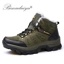 <b>MARSON Men Snow</b> Boots Winter Thickening Thermal Cotton Plush ...