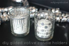 Diy Gold Candle Holders Diy Gilded Votive Candle Holder Tutorial Tgif This Grandma Is Fun