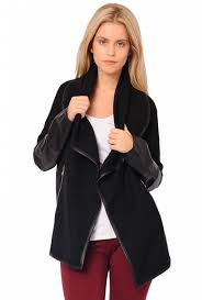 more views darcy waterfall coat in black