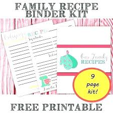 Free Printable Recipe Binder Templates Book Cover Template