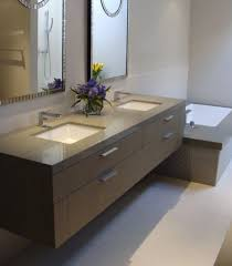 contemporary bathroom sinks rectngular undermouth bathroom sink double sink and two mirror with vas
