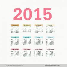 Editable 2015 Calendar Vector Free Download