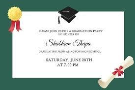 Graduation Party Announcement College Graduation Party Invitations 2017 Graduation Party