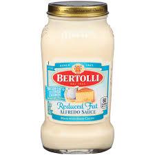 Bertolli Light Alfredo Sauce Bertolli Reduced Fat Alfredo Pasta Sauce 15 Oz Walmart Com