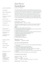Sample Nursing Resume Registered Nurse Resume Sample Free Nursing ...