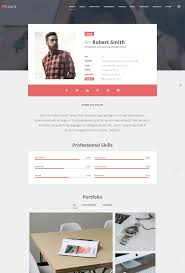 Resume Website Template Top 100 Resume Website Templates in WordPress 17