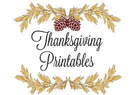 Printable Thanksgiving Cards Printable Thanksgiving Place Cards Menus