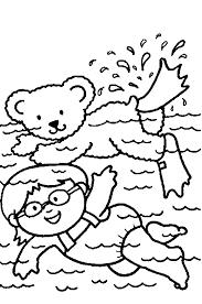 Kleurplaat Zwemmen Coloring Pages Summer Colors Summer En Swimming