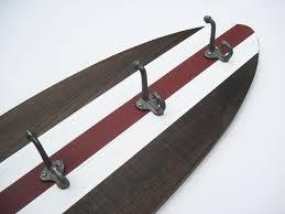 Dark Wood Coat Rack Dark Wood Surfboard Coat Rack Project Cottage 54