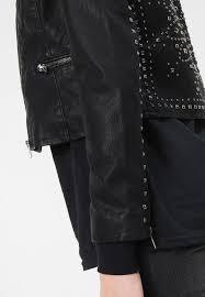 famous brand only onlzia studded biker faux leather jacket black 03182