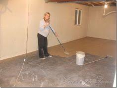 Painted basement floor ideas Epoxy Painting The Basement Basement Inspiration Painted Basement Floors Painting Basement Walls Basement Flooring Pinterest How To Paint Concrete Floor Diy Ideas Pinterest Painted