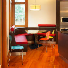 Kitchen Built In Bench Corner Banquette Bench Dining Room Modern With Artwork Banquette