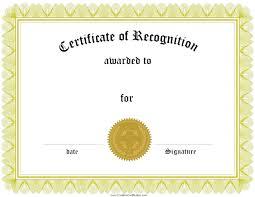 Appreciation Award Certificate Template Free Gift