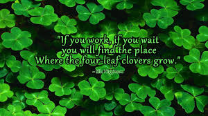 four leaf clover desktop wallpaper. Interesting Four Four Leaf Clovers  Ella Higginson Wallpaper Quotes Inside Clover Desktop Cave