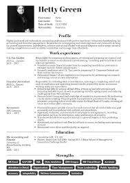 Tax Preparer Resumes Nice Sample Resume For Tax Accountant Best