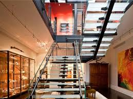 Mansion Loft Gallery Space Glass Staircase 4