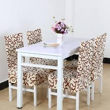 unique bargains 4 pcs elastic short decorative dining chair cover