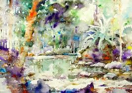 watercolour painting by goh shu laang forest in kluang 2